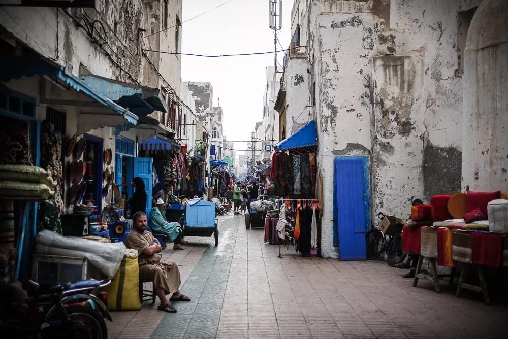 Vendors in Essaouira, Morocco