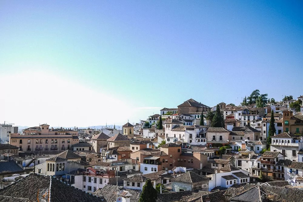 The Albaicin in Granada, Spain