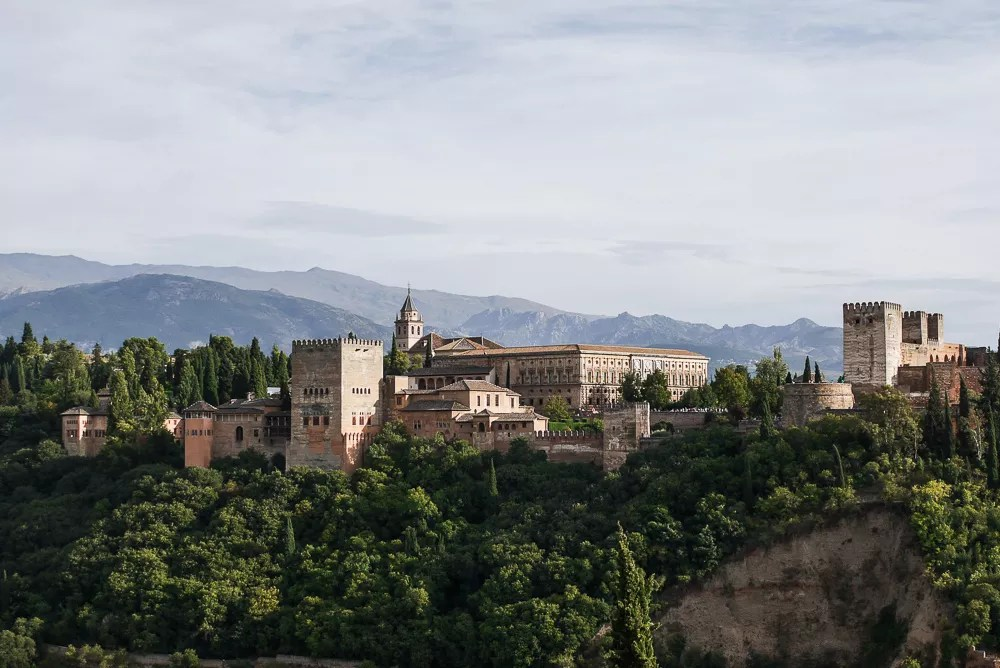 View of the Alhambra fortress from the Albayzin