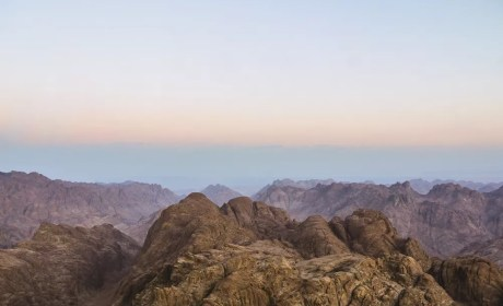 Sunrise On Mount Sinai in Egypt