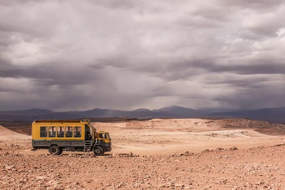 Grado 10 Monster Truck Bus Vehicle in Valle de la Luna