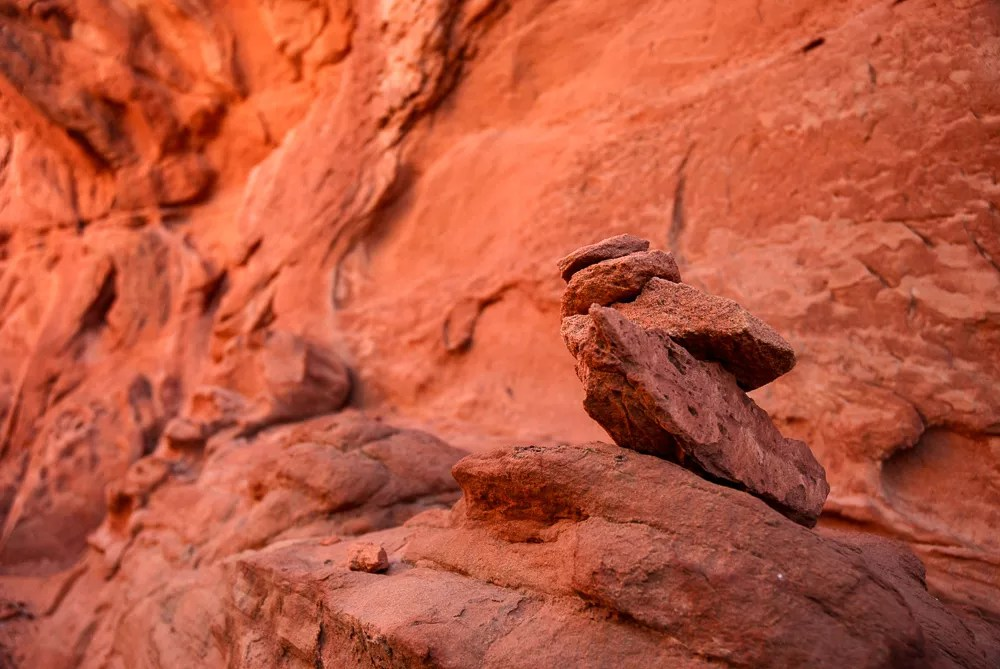 The Wave: Sandstone Cairns On Notch Trail