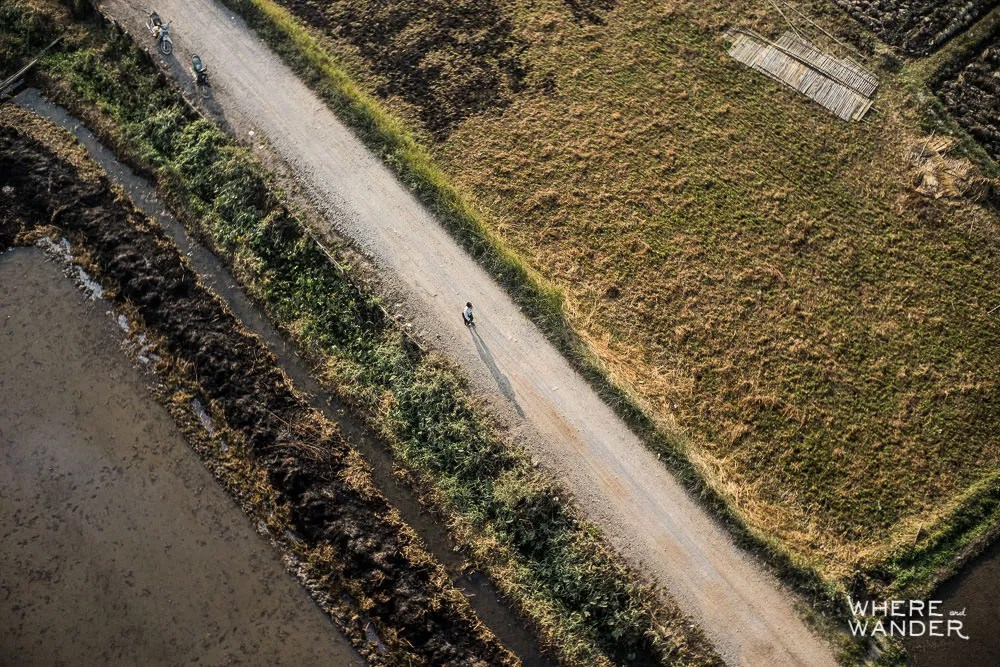 Aerial Photography Of Villages In Myanmar