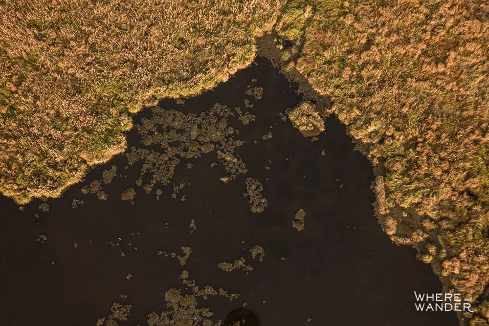 Aerial View Of Inle Lake From Hot Air Balloon In Myanmar