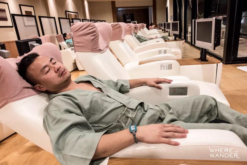 Guest Relaxing At Tokyo Onsen