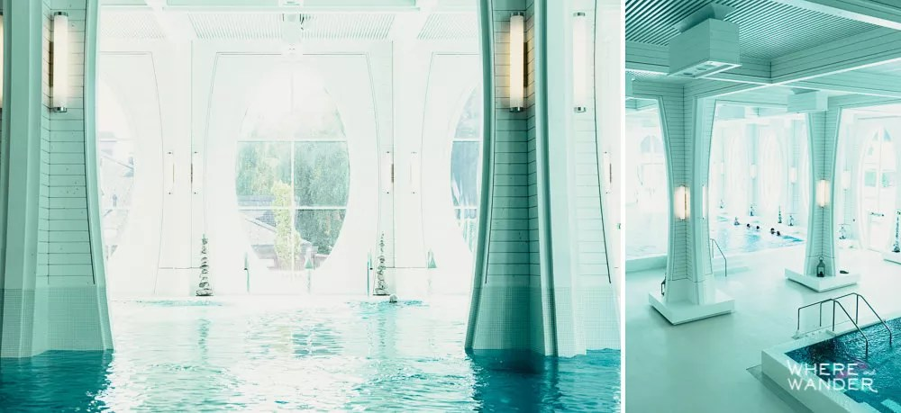 Interior of Tamina Therme Spa in Bad Ragaz