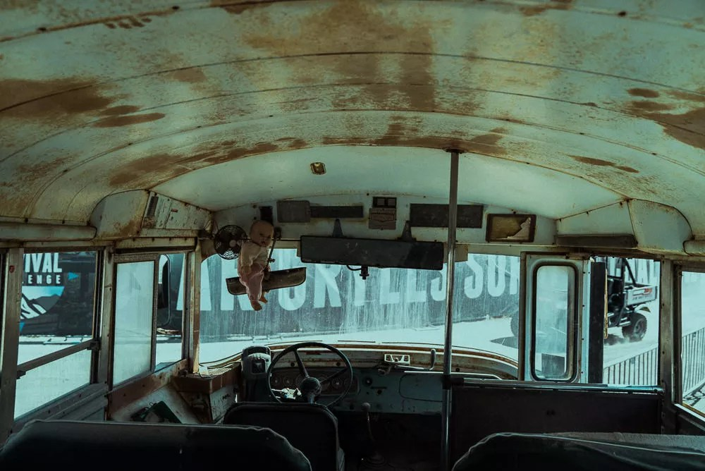 Scary Doll Inside Post Apocalyptic Bus At Bear Grylls Survival Challenge