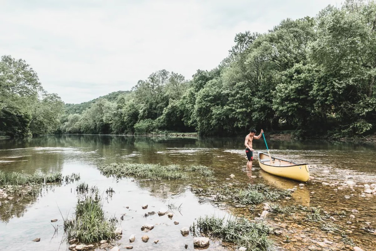 Canoeing down North Fork River