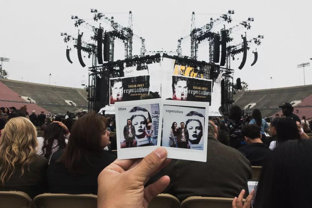 Instax Polaroids at Taylor Swift at Rose Bowl During Reputation Stadium Tour Concert