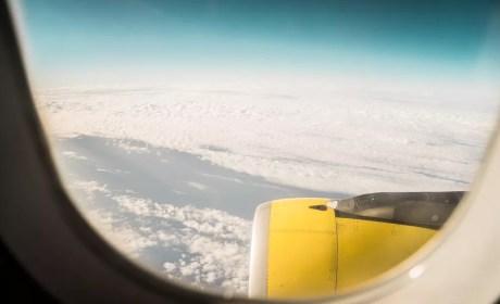 View from Lufthansa Flight Window