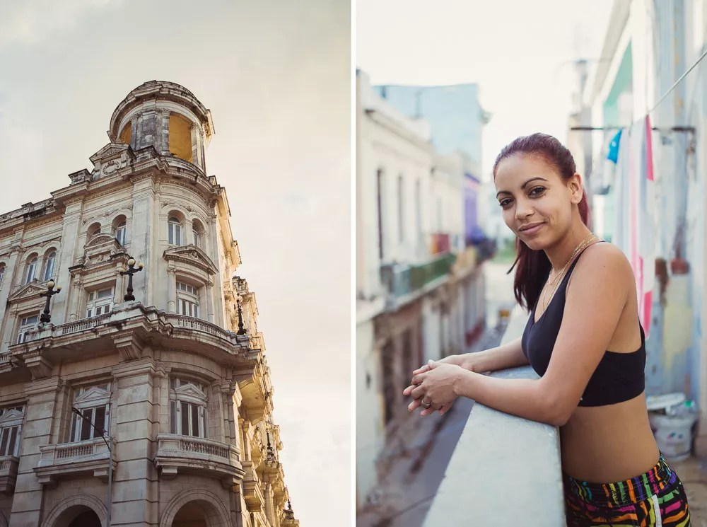 Portrait of Cuban woman in Havana