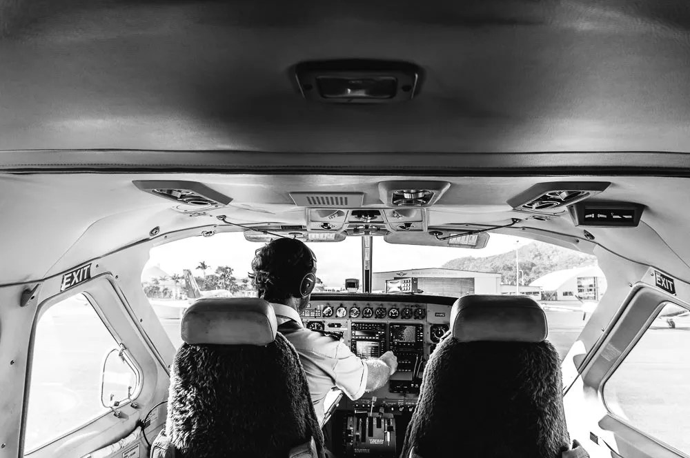 Inside of Cockpit flight to lizard island