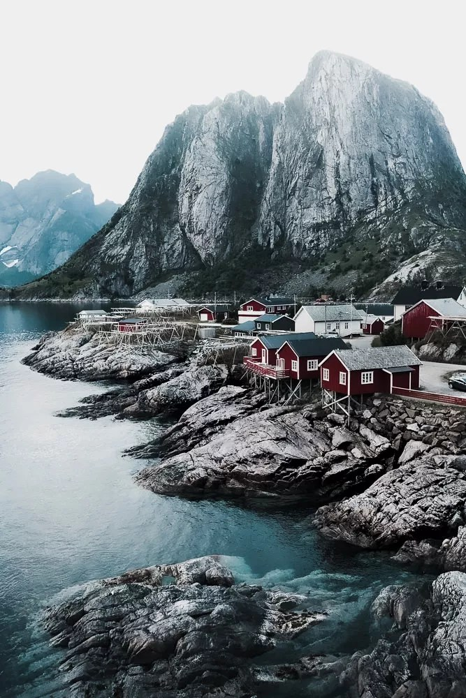 Hamnoy village in the Lofoten Islands of Norway