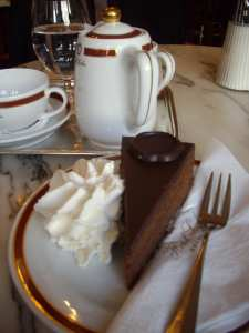 History of Sacher Torte with 'Einspänner' and a Glass of Water