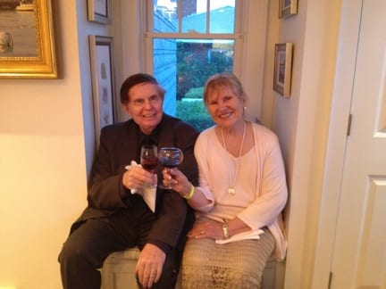 Norm Hill and Maralyn Hill Toasting