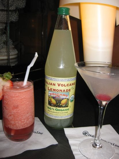 Mt. Etna Volcano Martini ( E.V.M.) & Organic Volcano Lava Photo: Michelle M. Winner