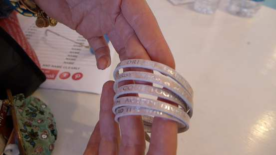 Good Work(s) Make a Difference® bracelet at Nalu Nantucket ©Sherrie Wilkolaski