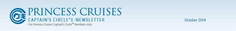 Princess Cruises Newsletter