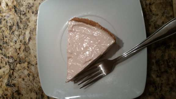 Slice of Michael's No-Bake Cheesecake