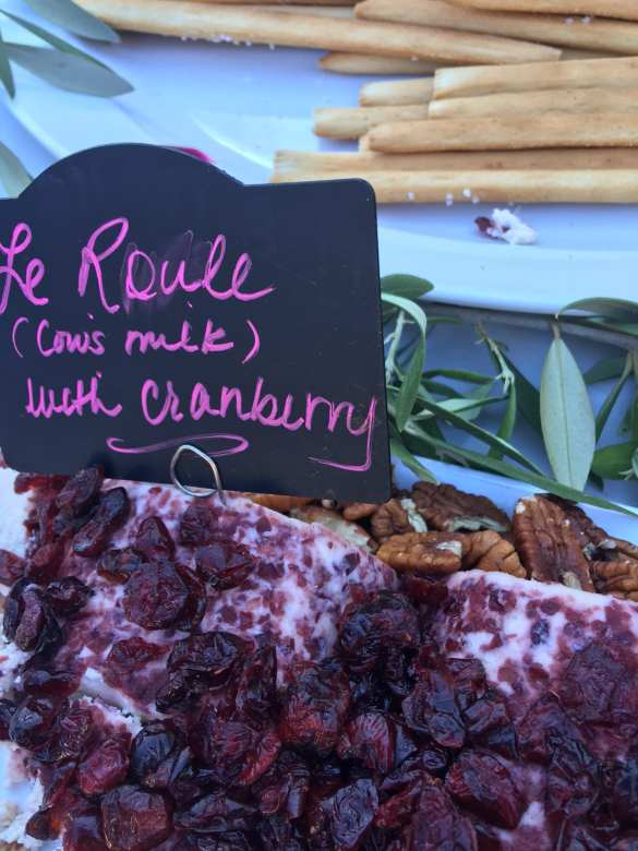 Le Roule (cows milk with cranberry cheese) photo - Brenda C. Hill