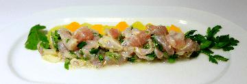 Fish Ceviche with Tequila Recipe - Image: El Delfin Restaurant, Hotel Garza Canela