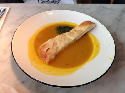 Made from scratch Pumpkin Soup