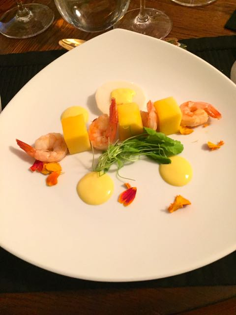 Shrimp with Mango by Maralyn D. Hill