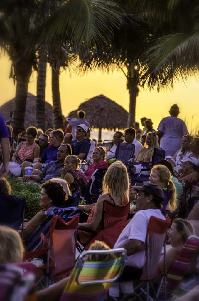 SummerJazz on the Gulf -- a view of crowd -- at The Naples Beach Hotel