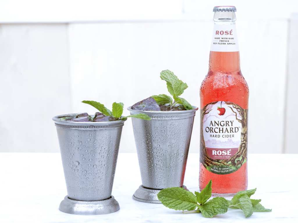 Rose Cider Julep from Angry Orchard