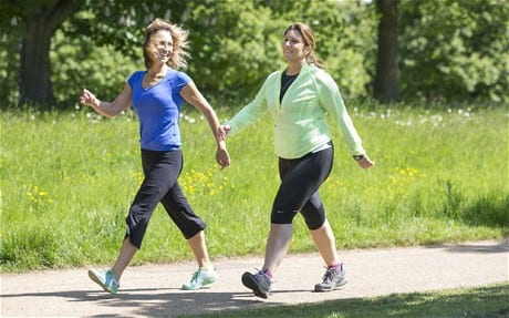 Walking a fitness exercise