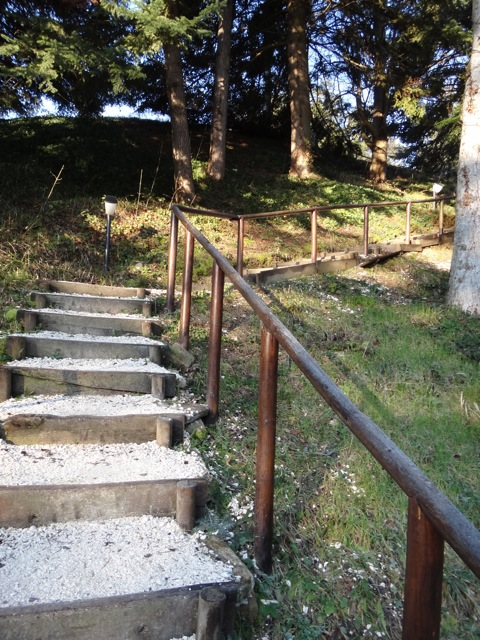 Stairway to the meditation hall.