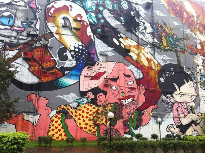Huge murals