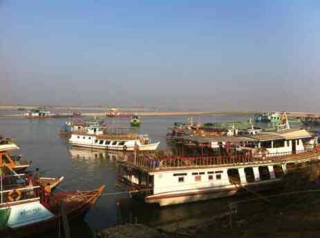 The vast Ayeyarwady River