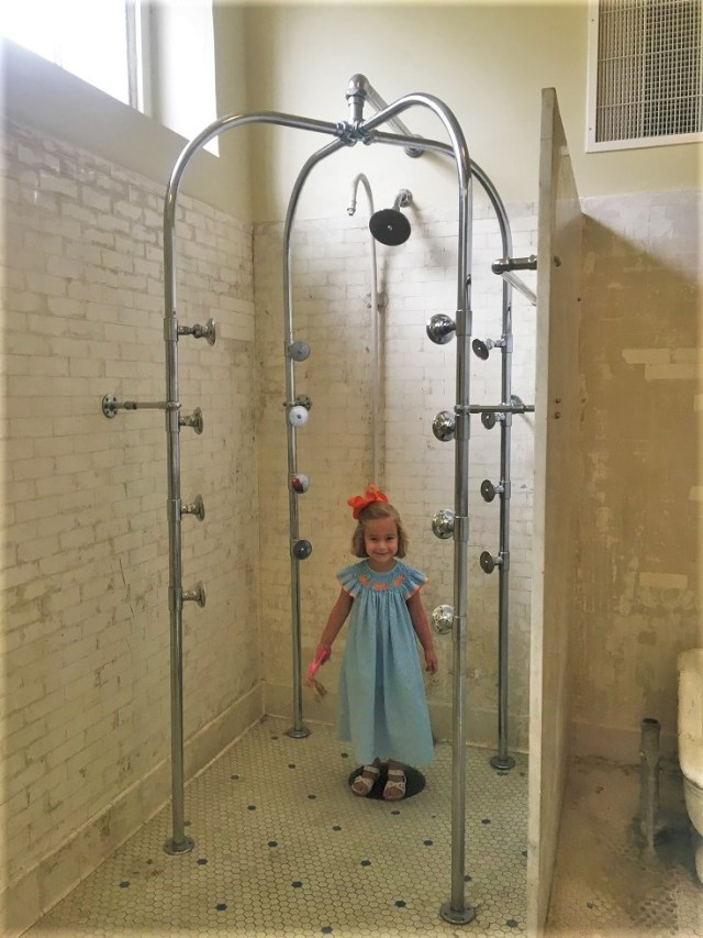 Emelia in Fordyce Bathhouse Shower