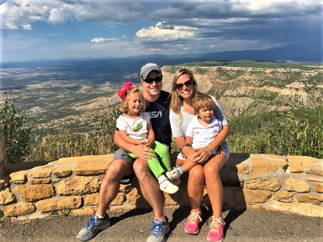 Family at Park Point in Mesa Verde National Park