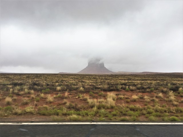 Unusual Morning Fog at Monument Valley