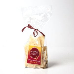 Share Size White Chocolate Shards with Cranberry and Almond.