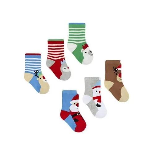 Baby's Christmas Socks- 3 Pairs