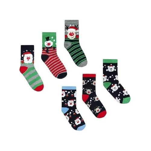 Children's Christmas Socks - 3 Pairs