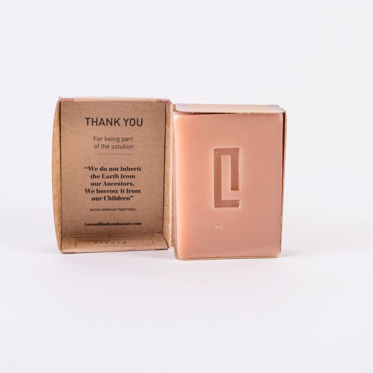 Red clay gift box and soap