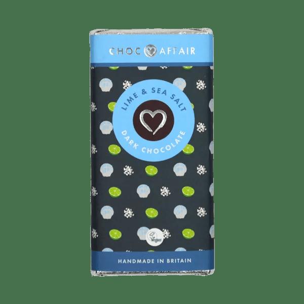 Lime sea salt dark chocolate bar 90g