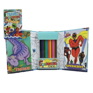 Dinosaurs and Superheroes Colouring Set