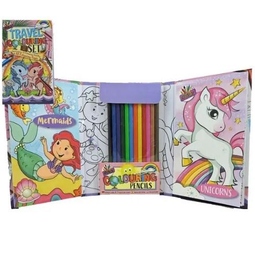 Unicorns and Mermaids Colouring Set