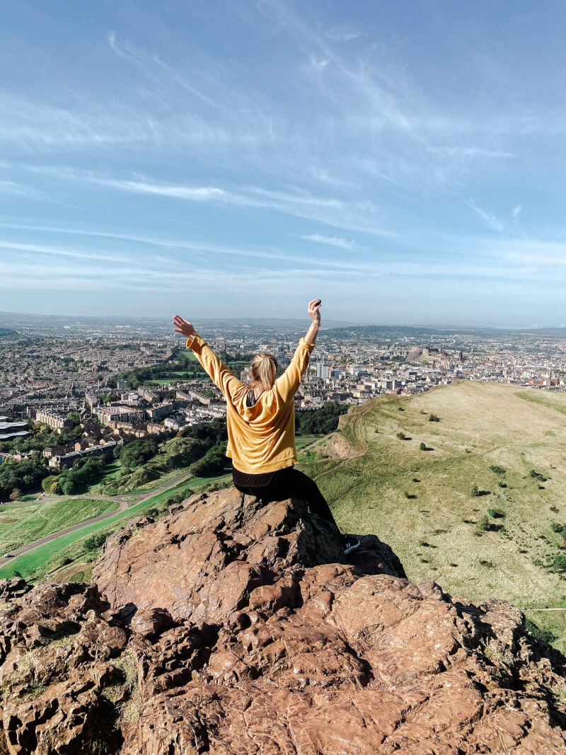 image of the view from Arthur's Seat in Edinburgh, Scotland