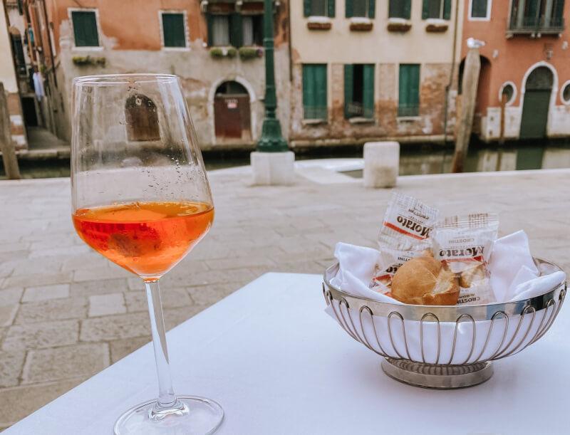 image of aperol in Venice