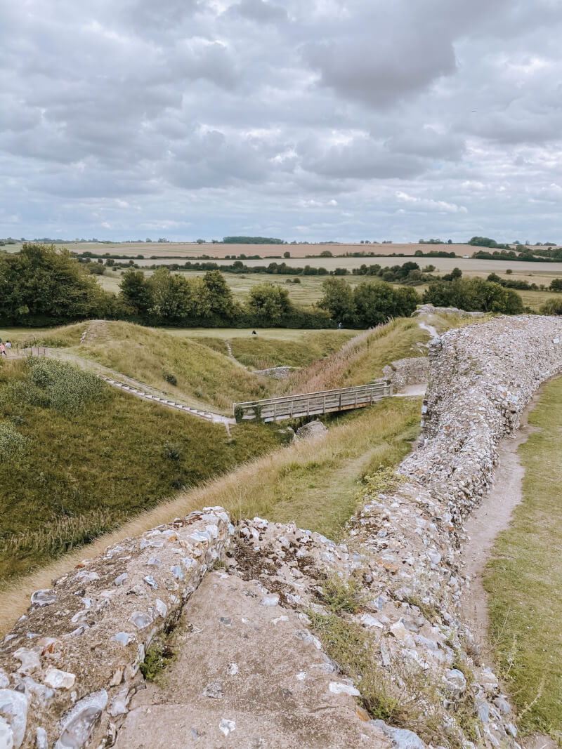 image of the walls of Castle Acre in Norfolk