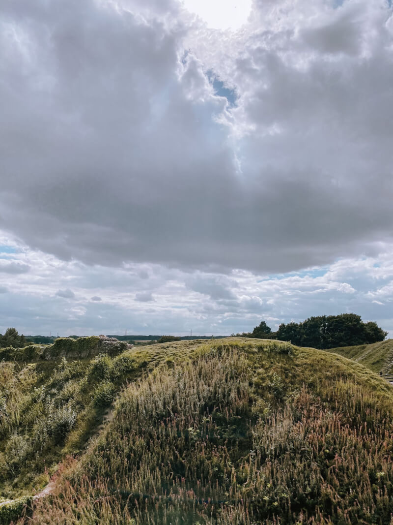 image of the ruins of Castle Acre in Norfolk