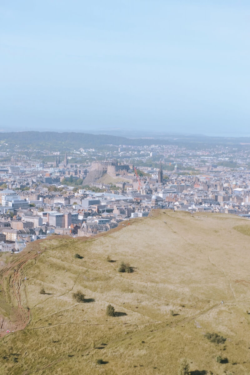 image of the view of Edinburgh Castle from Arthur's seat