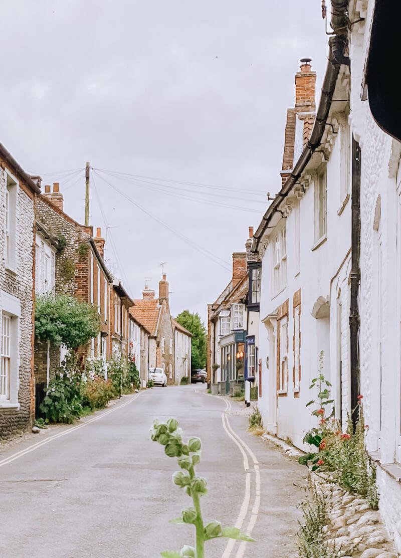 image of high street in the Norfolk coastal village of Blakeney