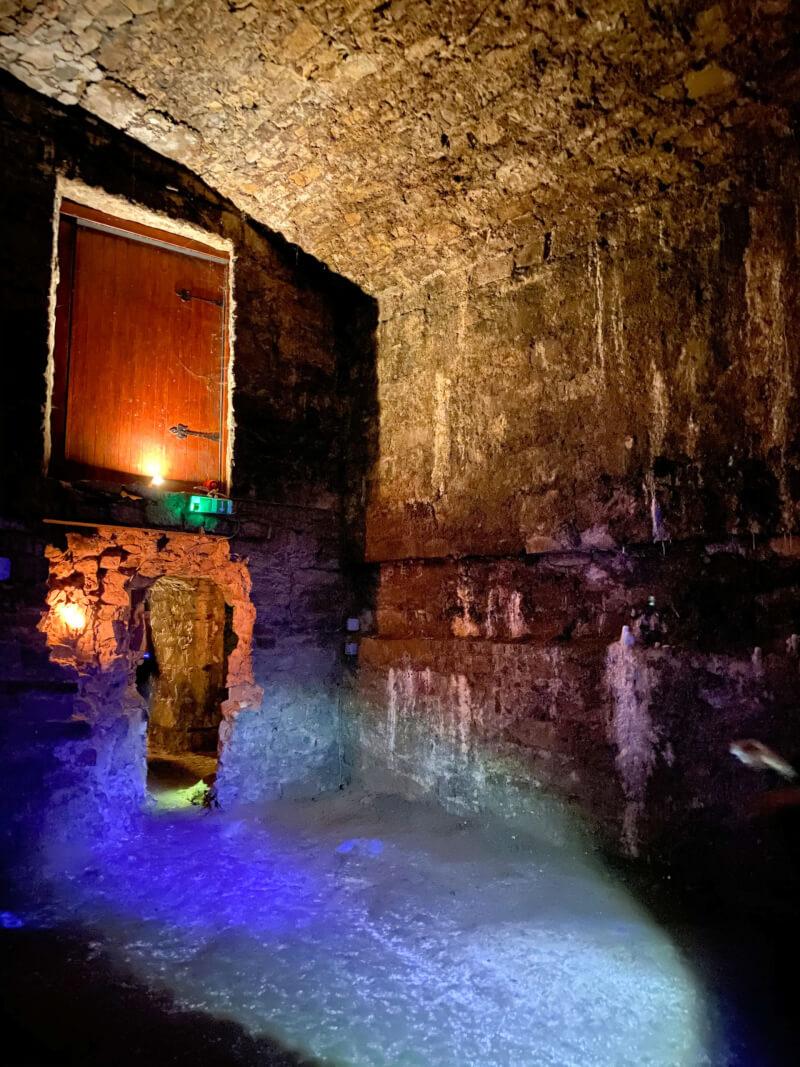 Image of the underground vaults in Edinburgh - top things to do in Edinburgh